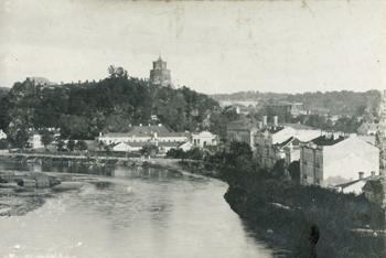Castle Hill in Vilnius;Source: Archive of new records, Archiwum Jana Kwapinskiego i jego rodziny, sygn. 188, s.1.