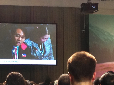 Philippines Representative makes an emotional appeal during the Conference opening