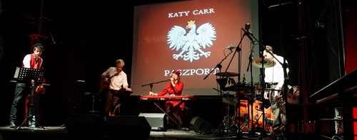 Katy Carr and the Aviators perform at the Warsaw Uprising Museum, Oct. 2013 | Photo by Aleksandra Sędek