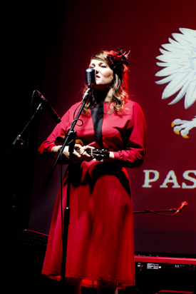 Katy at the Warsaw Uprising Museum, Oct. 2013 | Photo by Aleksandra Sędek