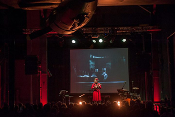 Katy performs at the Warsaw Rising Museum, Oct. 2013Courtesy of the Museum