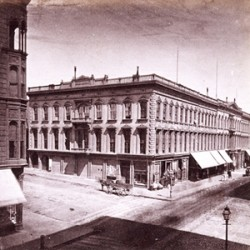 In 1863, Polish residents of San Francisco held monthly at the Russ House, welcoming all supporters of Polish liberty.  The Russ House was located at 235 Montgomery Street, and stretched from Pine to Bush Streets.