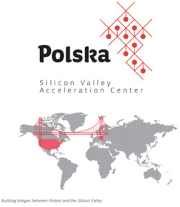 Logo of the Silicon Valley Acceleration Center; a new exciting U.S.-Poland project