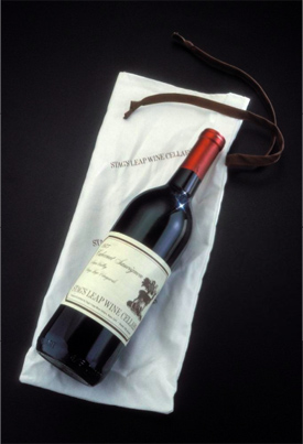 1973 bottle of Warren Winiarski's Stag Leap Cabernet Sauvignon; image via the Smithsonian National Museum of American History