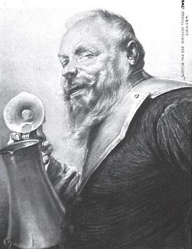 """""""Pan Zagłoba"""" by Piotr Stachiewicz in an 1898 1898 Henryk Sienkiewicz Jubilee Album"""