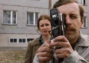 """A still from """"Camera Buff"""" Dir. Krzysztof Kieślowski"""