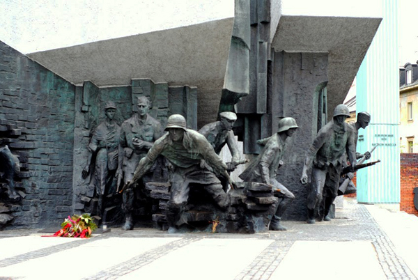 Warsaw, Poland: The monument in honour of the men and women of the Warsaw Uprising.