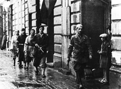 AK (Home Army)  troops marching to battle on August 1, 1944. 'Agaton' leads his platoon.