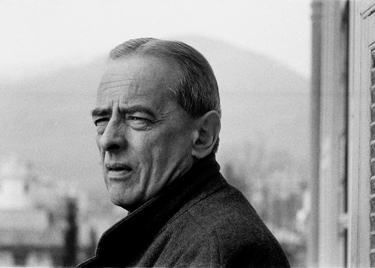 Witold Gombrowicz in Vence, France, 1965. Photo: Bohdan Paczowski via Culture.pl