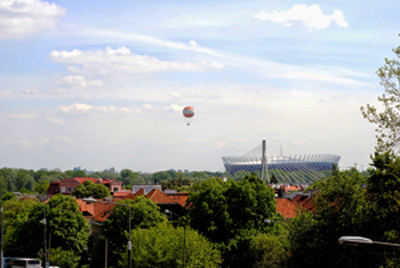 View of Praga and the new Stadium PHOTO: Lara Szypszak