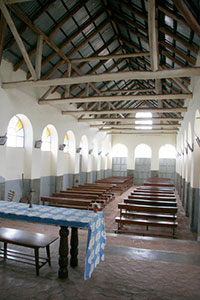 Interior of the Masindi church in 2006. Photo courtesy of John Goddard.