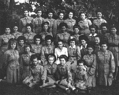 The Tengeru Guides. Author's sister is seated in the front row, on the left.