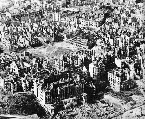 PHOTO: Warsaw destroyed; January 1945.