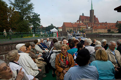 A boat tour along the Odra River.