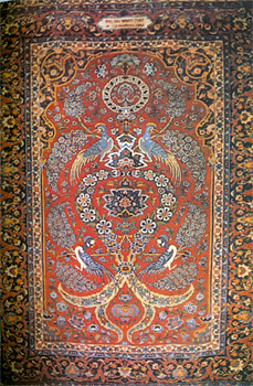 Carpet woven by Polish students at Isfahan