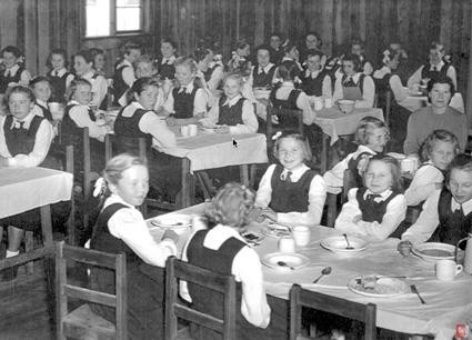Pahiatua, NZ: Dining Room No. 2; lunch on a Sunday; 1948.PHOTO courtesy of the Kresy-Siberia Virtual MuseumExhibition: Daily Life