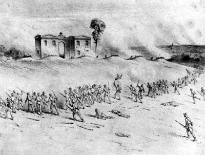 Edwin Forbes illustration of the Confederate attack on Cemetery Hill, July 2 PHOTO: GNMP Collection