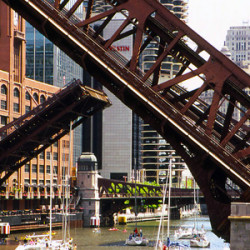 Chicago's bridges in the summertime PHOTO: Tripp via Flickr  + Wikimedia Commons