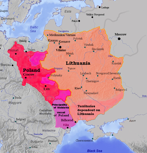 1387: Poland + Lithuania GRAPHIC by M.K.