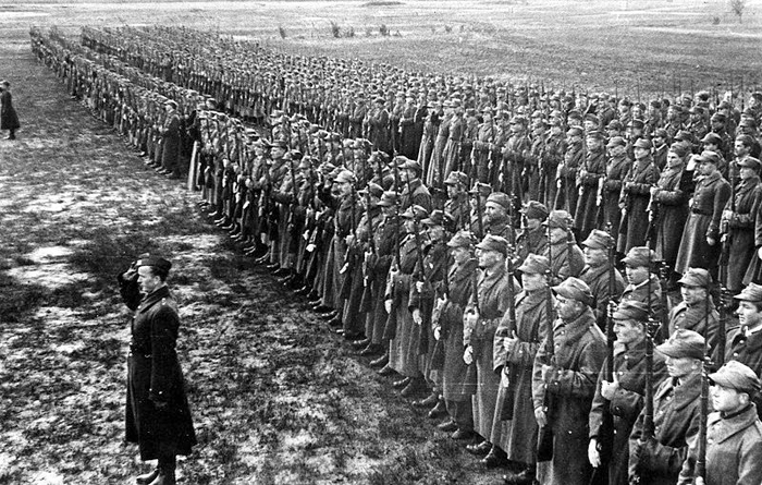 Early 1942: Polish Army Forces in the Soviet Union, under the command of Gen. Władysław Anders.