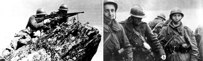 Polish soldiers in Narvik, Norway.