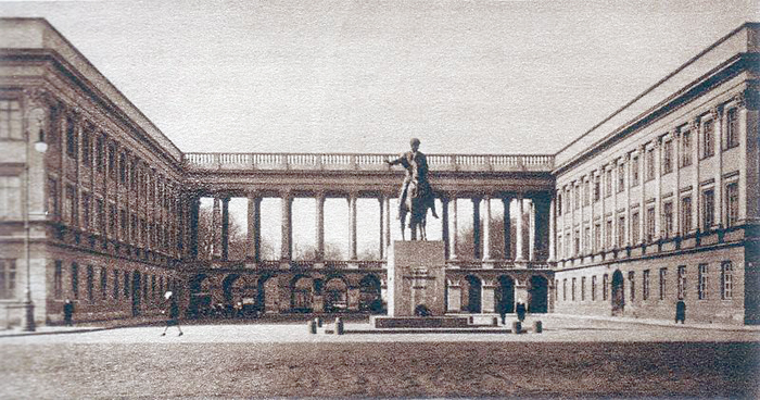 The Saxon Palace in Warsaw, Poland, where Poland's Cipher Bureau first broke the German Enigma code. This building was, like so many others, subsequently destroyed in the war.