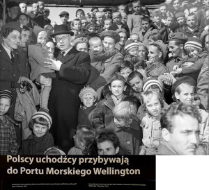 Polish orphans welcomed to New Zealand by Prime Minister Peter Fraser