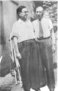 Henryk Woliński (left). Head of the AK's Jewish Affairs Bureau& liaison with the Warsaw Ghetto leadership, with his Polish-Jewish friend Władysław Winawer (whom he rescued)