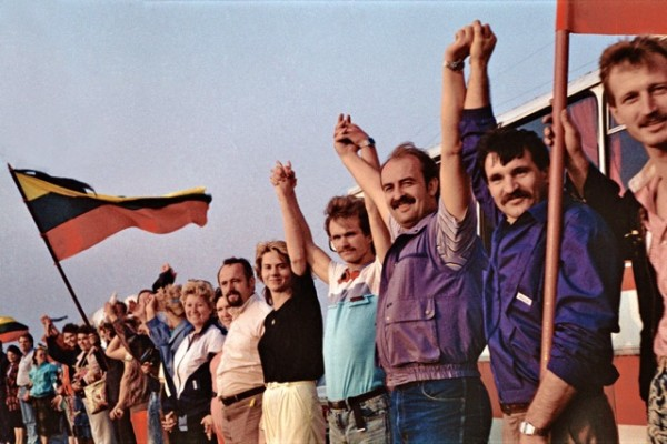 The Baltic Chain, the August 23, 1989 peaceful demonstration involving 2 million people joined in a chain stretching 419.7 miles across Estonia, Latvia and Lithuania