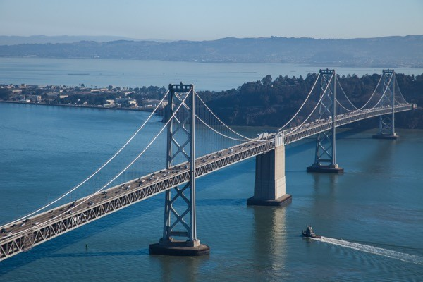 The Bay Bridge in San Francisco, photo by Q. Brudos-Sommers