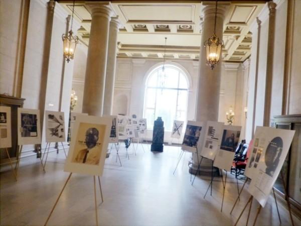 The exhibit in the Trophy Room of the War Memorial Veterans' Building