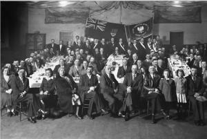 Polish Brotherly Aid Society dinner, Coleman, Alberta, c. 1935. Photo: Gushul Studio, Blairmore, Alberta. (Glenbow Archives, Alberta, nc-54-1990)